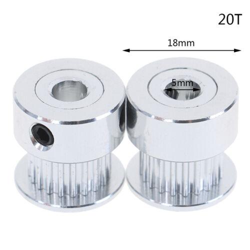2Pcs 16T//20T GT2 Timing Pulley 5//6.35//8mm Bore For Belt Reprap 3D Printer PYJ/_mh