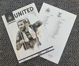 Newcastle-United-v-Crystal-Palace-Programme-1-1-2020-FREE-UK-DELIVERY