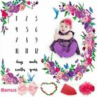 LORANDOS LR-01 40x60 inch Baby Monthly Milestone Blanket
