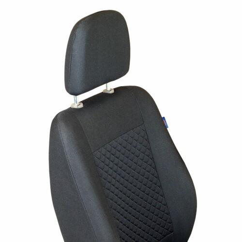 Schwarzer Gepresster Karomuster Sitzbezug Peugeot J5 Vorne Fahrersitz