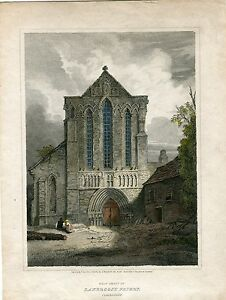 West-Front-Lanercost-Priory-Cumberland-1813-Engraved-By-L-Clenell-On-Play-D