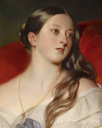 Young Woman 8x10 Print Picture 1712 Queen Victoria by Franz Xaver Winterhalter