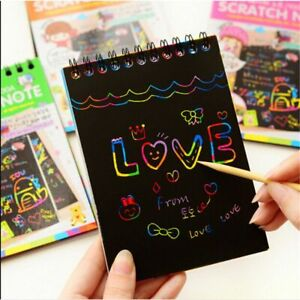 Scratch-Sketch-Art-Notes-Rainbow-Magic-Doodle-Notes-Perfect-Travel-Activity-Gift