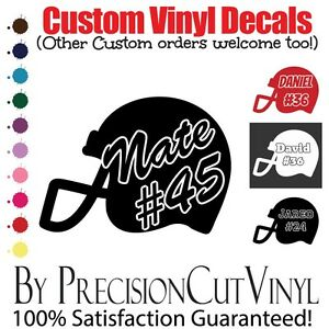 Custom Football Vinyl Decal With Name Car Outdoor Window Team - Custom vinyl decals numbers