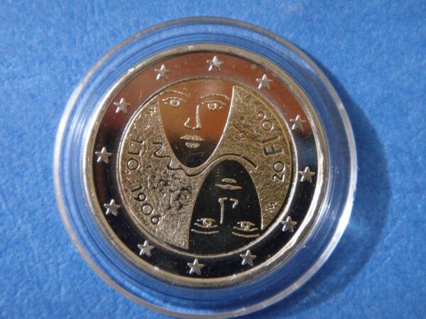 """Belle 2 Euros Commémo. Finlande 2006 """" 100e Anniversaire """" Neuve Sous Capsule"""