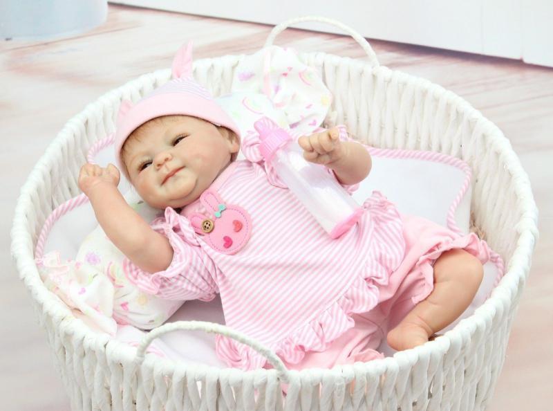 18  regalo fatto a mano morbido silicone Reborn Bambola realistica neonato Bambole Fashion