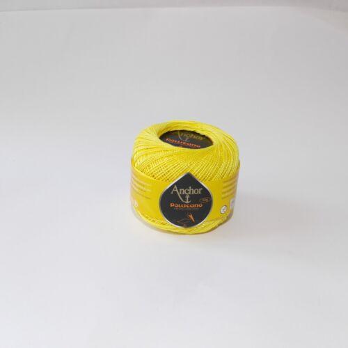 Anchor Filo Pellicano 50 g N.8 colore giallo 00295-100/% cotone art.4778008