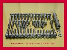 Triumph Sprint ST/RS 955i 99-01 Edelstahl Motorschrauben Schrauben Schraubensatz