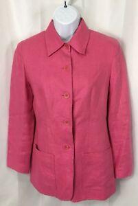 1999d91bac5 TALBOTS Blazer Jacket Women s PETITE 2 2P Lined Irish Linen