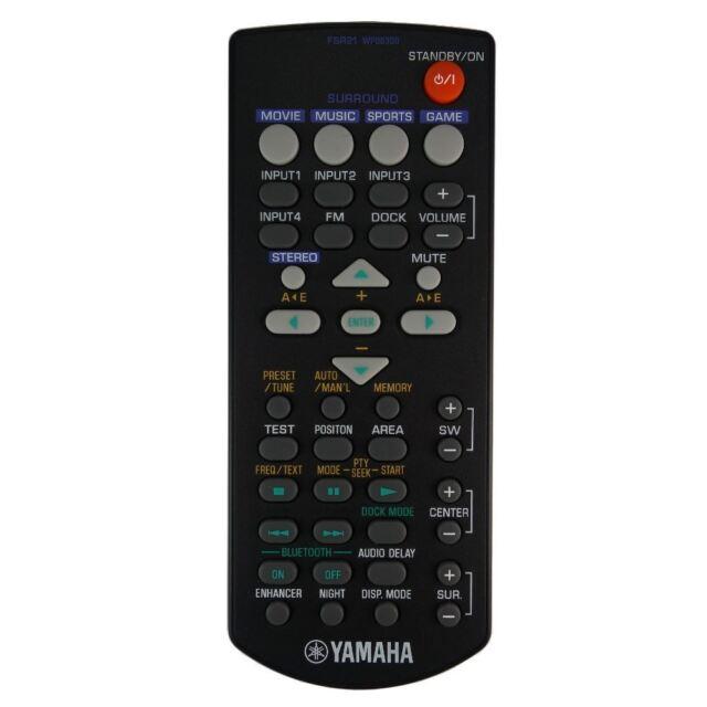 82687bebbeeed Genuino Yamaha Fsr21 Wp08300 barra de sonido mando a distancia ...
