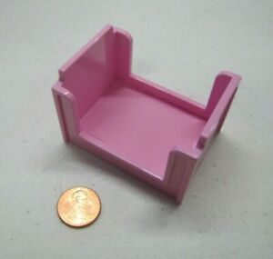 Rare LEGO Duplo Original PINK SINGLE BED for Dollhouse Bedroom Fits Figures