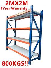 New 2M Garage Warehouse Steel Storage Shelving Shelves Racking Racks Blue