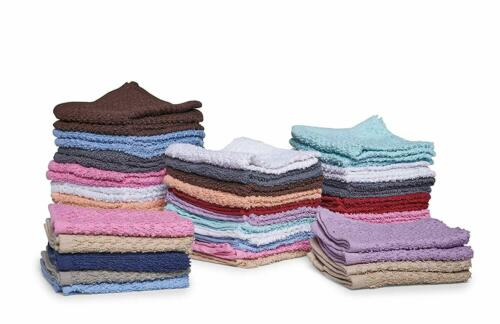 12 Pack Washcloth Towel Set 100/% Cotton Face Cloths Absorbent Kitchen 12x12