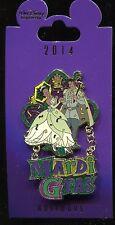 WDI Mardi Gras Princess and the Frog Tiana Naveen Dangle LE 250 Disney Pin 99841