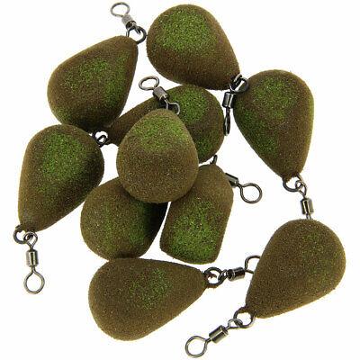 10 x 3oz Flat Pear 10 x Carp Fishing Tackle Weights 1.5oz 2oz 2.5oz 3oz 3.5oz Flat Pear Style Weight All Sizes