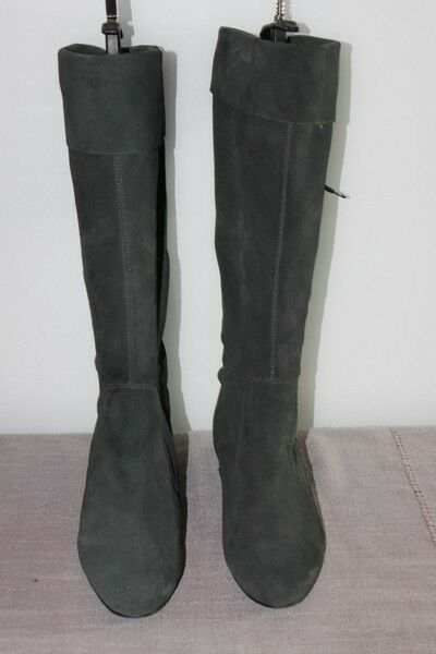 TOGETHER Stiefel Stiefel Stiefel Wildleder flexibel dunkelgrau T39 seht guter Zustand 4e379c