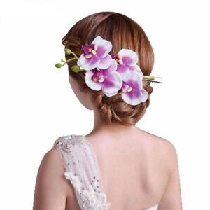 DéVoué Belle Orchidée Fleurs Pince à Cheveux Barrette Épingle à Cheveux Mariée Mariage Fête Bal Femmes-afficher Le Titre D'origine MatéRiaux De Qualité SupéRieure