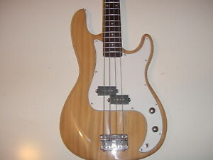 new full size 4 string electric bass guitar natural ebay. Black Bedroom Furniture Sets. Home Design Ideas