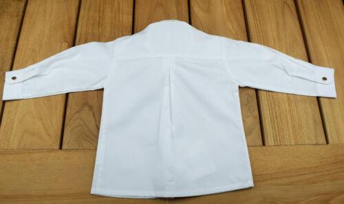 80-176 Oktoberfest Trachten Hemd Kinderhemd Jungen Kinder Trachtenhemd weiß Gr
