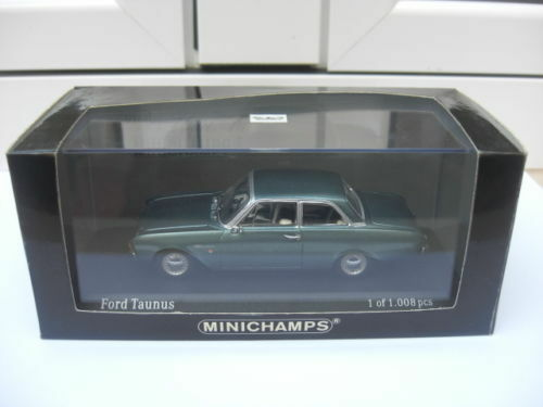 Ford Taunus 1960 turquoise met Minichamps 430085107 MIB 1 43 escort VERY RARE