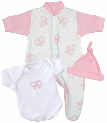 Sleeper Bodysuit Hat BabyPrem Preemie Baby Clothes Micro Tiny Three Piece Set