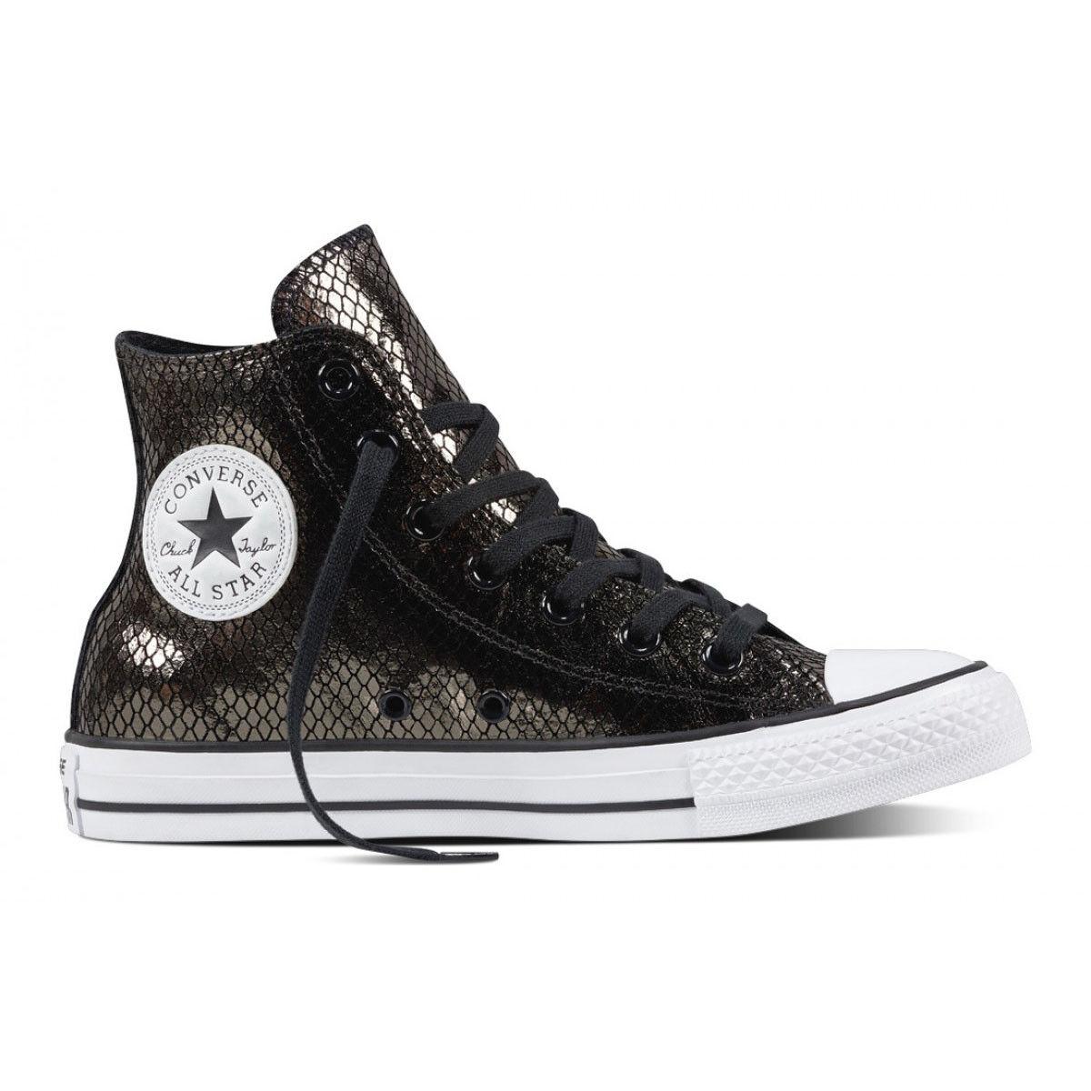 Converse Women's Chuck Taylor All Star High Black Black White Sneaker