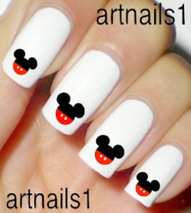 Disney-Mickey-Mouse-Nail-Art-WaterSlide-Decals-Stickers-Manicure-Salon-Polish