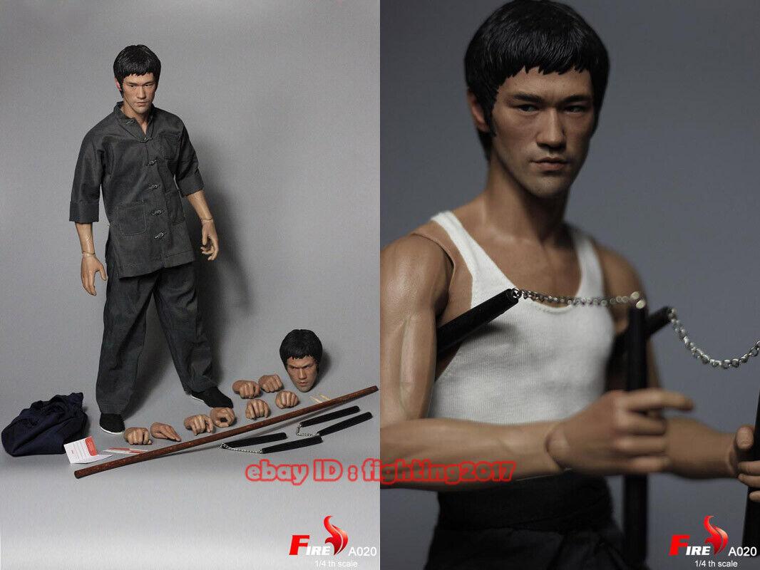En Stock fuego A020 Camino del Dragón Bruce Lee 1 4 figura de acción de dos puntas
