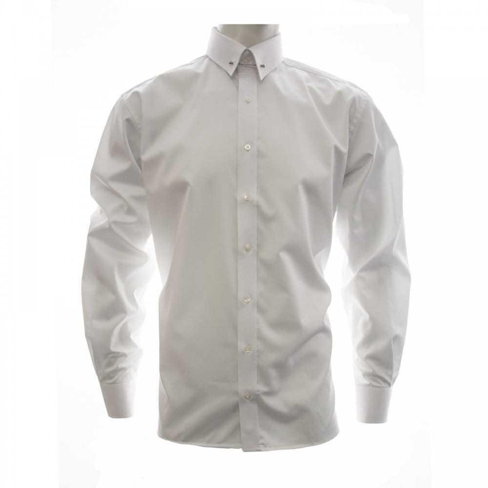 Eterna Mens Pin Through Shirt (White)