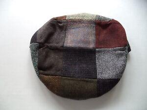a667b11d6ae77 New L Irish Donegal tweed flat cap patchwork Hanna Hat wool Large ...