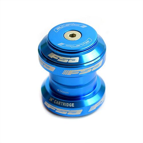 "Blue FSA Orbit MX 34mm Threadless Headset for Bike Bicycle 1-1//8/"" Steerer"