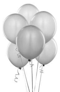 argent-Ballons-10-100-Metalique-nacre-10-034-latex-BALOON-pour-anniversaire