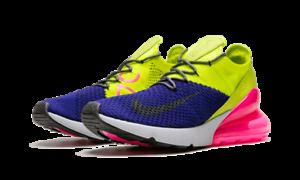 9e1f1606395a New Nike Air Max 270 Flyknit Regency VOLT Purple Thunder Grey AO1023 ...