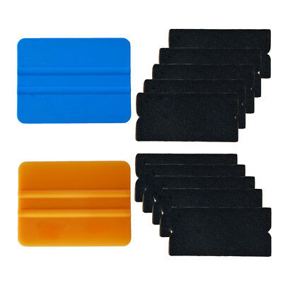 PRO Vinyl Felt Squeegee Kit Wrapping Application Window Tint Tools Scratch-Free