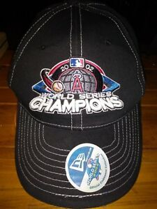 8dc2209ac68 ANAHEIM ANGELS HAT CAP 2002 WORLD SERIES CHAMPIONS MLB BASEBALL NEW ...