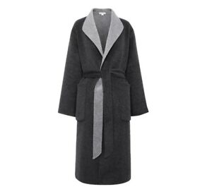 Whistles £250 Wrap Tag Grey Coat M New With 14 12 Reversible Size 11wSqdr