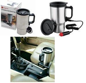 450ML Auto Car Electric Thermos Water Heated Mug 12V Portable Heating Cup Car Kettle Travel Mug