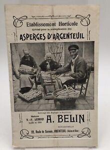 Belin : Établissement Horticole spécial pour la multiplication des Asperges 1900