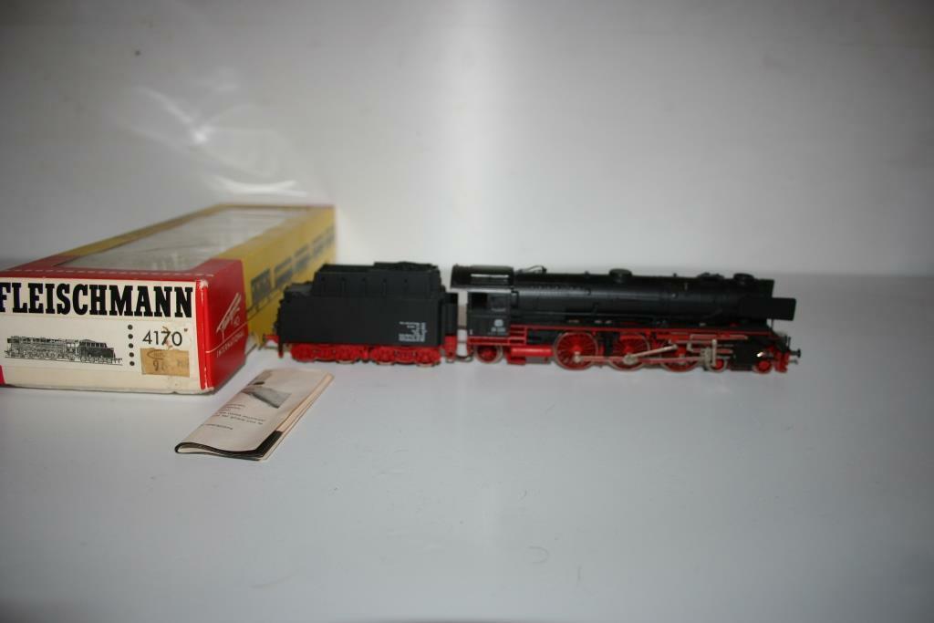 Fleischmann Spur h0  4170 locomotora a vapor br 01 220 de la DB, embalaje original