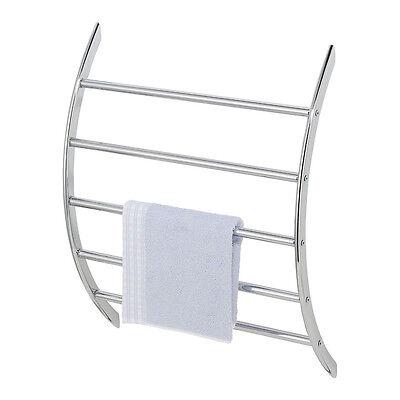 WENKO Wand-Handtuchhalter - 5 Handtuchstangen Handtuchablage Bad Diener Ablage