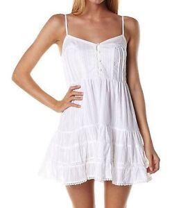 BILLABONG-New-SIENNA-Ladies-Cotton-Dress-White-10