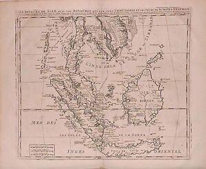 Antique-map-Le-royaume-de-Siam