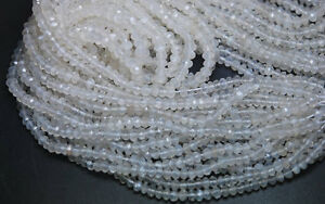14-Inches-Long-Strand-Micro-Faceted-Rondelles-White-Moonstone-Large-Size-4mm-Man