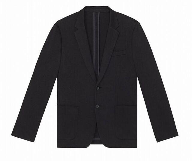 Calvin Klein Mens Black Size Large L Hidden Two Button Blazer Jacket $198 #053