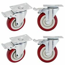 4 Swivel Caster Wheels 2 With Locking Brakes Holds Up To 1200 Pounds 4 In