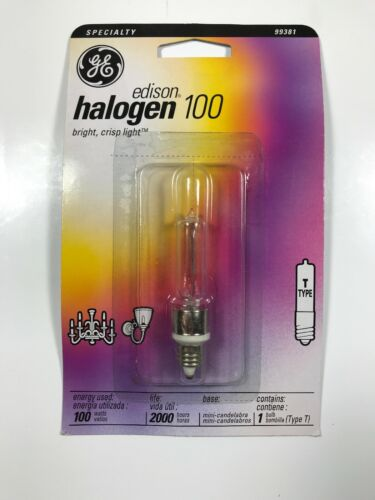 GE Lighting Edison NEW GE 100-Watt Quartz Halogen Lamp 99381 T-TYPE BULB