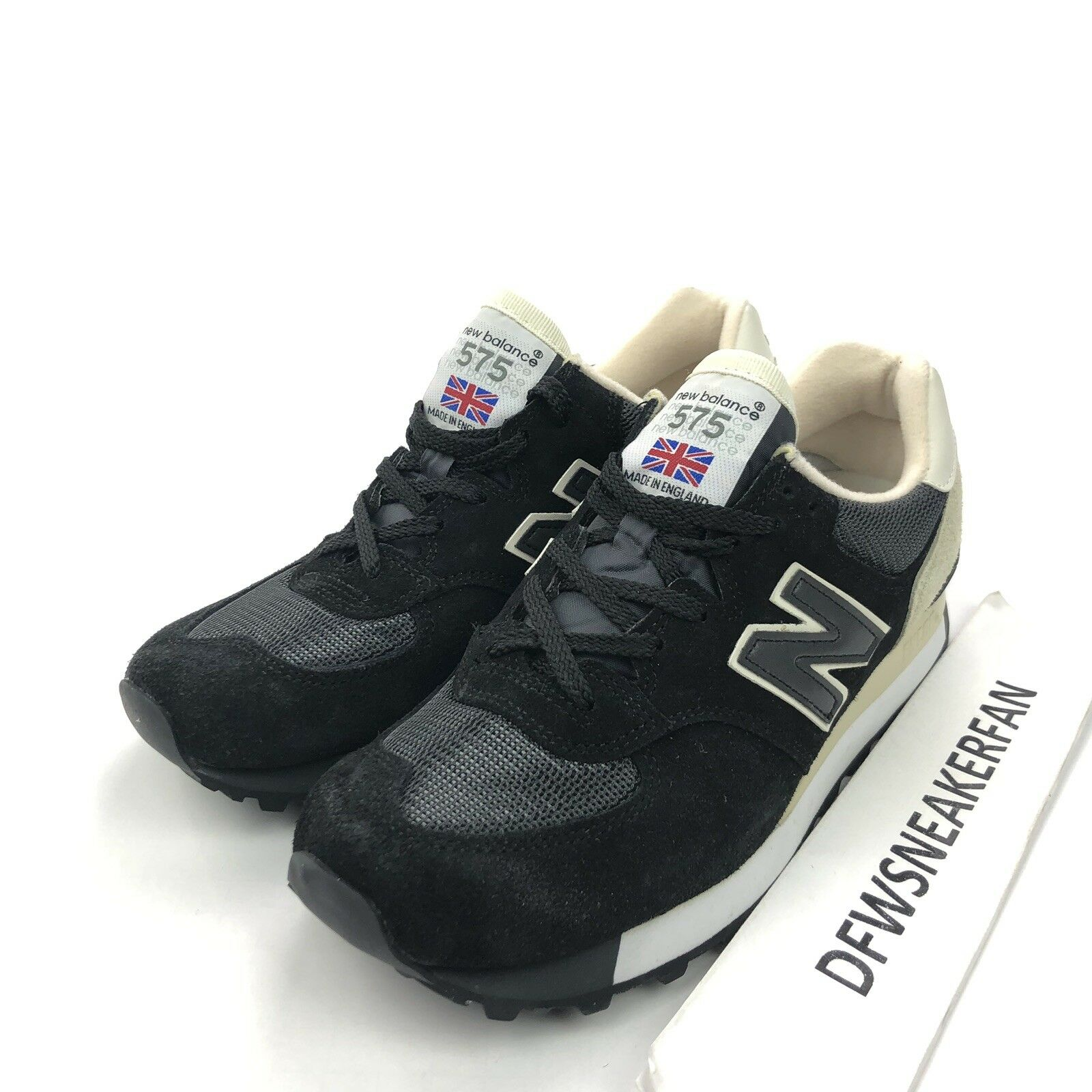 New Balance M575SKG Men's Size 8 Black Made In England Classic shoes Suede New