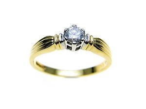18ct-Gold-Diamond-Ring-Diamond-Brilliant-cut-Total-Carat-Weight-TCW-0-22