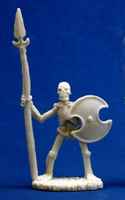 1 x SQUELETTE GUERRIER LANCE BONES REAPER figurine miniature jdr rpg skeleton