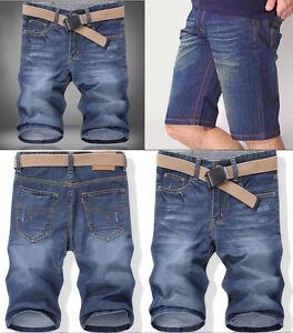 Herren-clubwear-Jeans-Shorts-Caprihose-Chinohose-Capri-kurze-Hose-Bermuda-H73